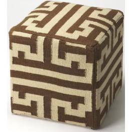 Labyrinth Wool Pouffe