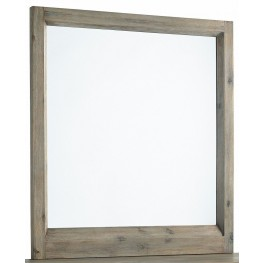 Harbourside Weathered Wire Brushed Portrait Mirror
