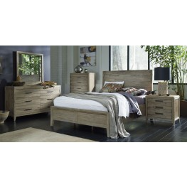 Harbourside Weathered Wire Brushed Horizontal Slat Panel Bedroom Set