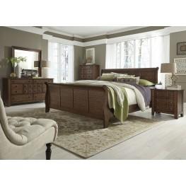 Grandpas Cabin Brown Sleigh Bedroom Set