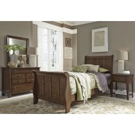 Grandpas Cabin Brown Youth Sleigh Bedroom Set