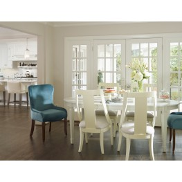Open Seating Reserved White Bryson Extendable Oval Dining Room Set