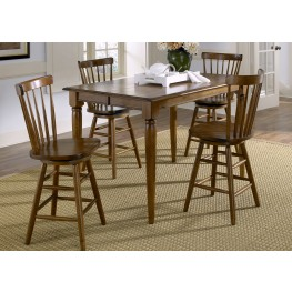 Creations II Tobacco Gathering Extendable Dining Room Set