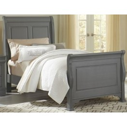 French Market Zinc Full Sleigh Bed