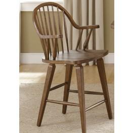 Hearthstone Rustic Oak 24 Inch Swivel Counter Chair