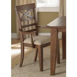 Hearthstone Rustic Oak X Back Arm Chair