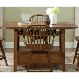 Hearthstone Rustic Oak Center Island Table