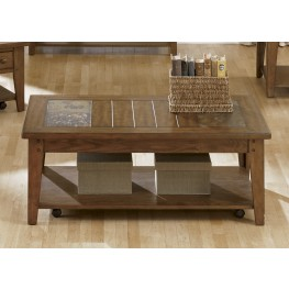 Hearthstone Rustic Oak Cocktail Table
