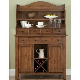 Hearthstone Rustic Oak Server with Hutch