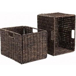 Granville Foldable Tall Baskets Corn Husk Set of 2