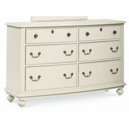 Inspirations Seashell White 6 Drawer Dresser