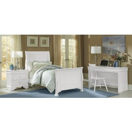 French Market Soft White Youth Sleigh Bedroom Set