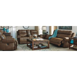 Austere Brown Power Reclining Living Room Set