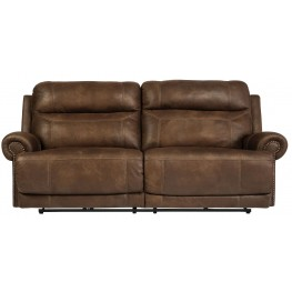 Austere Brown Reclining Sofa