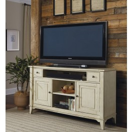 Harbor Ridge Rustic Ivory TV Console