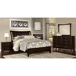 Commentary Merlot Benchback Panel Bedroom Set