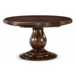 Riverhouse River Bank Round Pedestal Extendable Dining Room Table