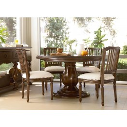 Riverhouse River Bank Round Pedestal Extendable Dining Room Set
