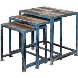 Reclaimed Wood Nesting Table Set