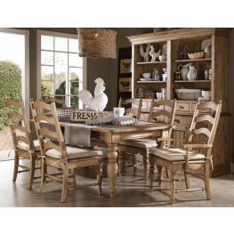 Homecoming Vintage Pine Farmhouse Leg Dining Room Set