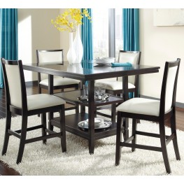 Trishelle Rectangular Counter Dining Room Set