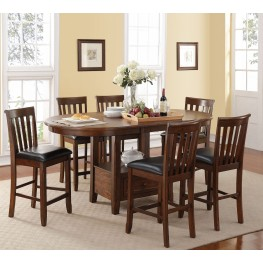 Wilson Burnished Cherry Counter Height Extendable Dining Room Set