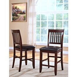 Kaylee Tudor Brown Counter Chair Set of 2