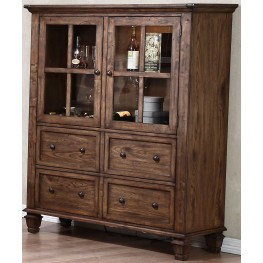 Sutton Manor Distressed Oak Manor China Cabinet