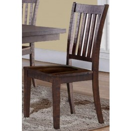 San Juan Brown Dining Chair Set of 2