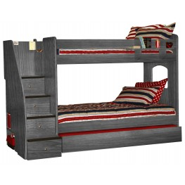40-415 Enterprise Twin Over Twin Bunk Bed
