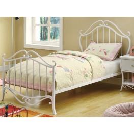 Bella White Twin Bed