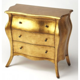 Artists Originals Gold Leaf Bombe Chest