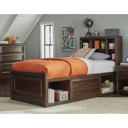 Greenough Maple Oak Twin Panel Storage Bed