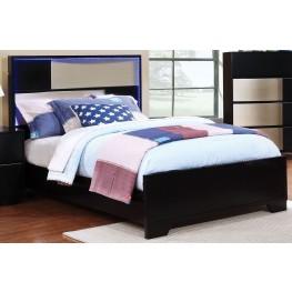 Havering Black and Sterling Full Platform Bed