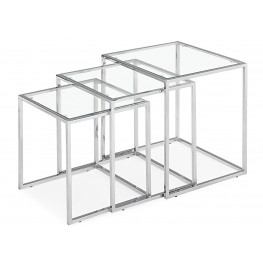 Pasos Nesting Table Tempered Glass