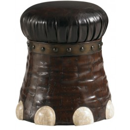 Henry Link Dark Coconut Elephant Foot Stool