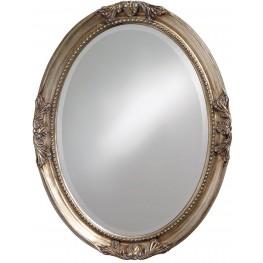 Queen Ann Antique Silver Leaf Mirror