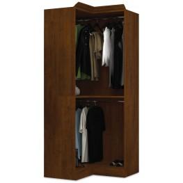 Versatile Tuscany Brown 36'' Corner Open Storage Unit