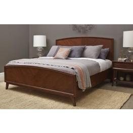 Modern Harmony Burnished Walnut Cal. King Panel Bed