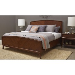 Modern Harmony Burnished Walnut Panel Bedroom Set