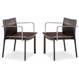 Gekko Conference Chair Espresso Set of 2