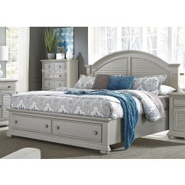 Summer House II Gray King Storage Bed