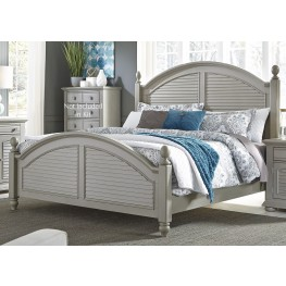 Summer House II Gray King Poster Bed