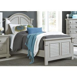 Summer House Dove Gray Twin Panel Bed