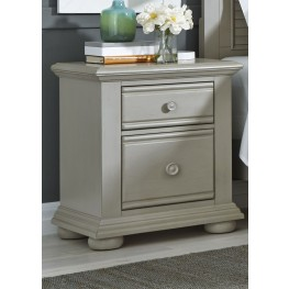 Summer House Dove Gray 2 Drawer Night Stand