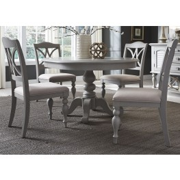 Summer House Dove Grey Round Dining Room Set