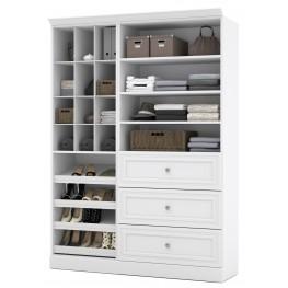 Versatile White 61'' Storage Unit