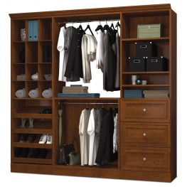 Versatile Tuscany Brown 86'' Storage Wardrobe