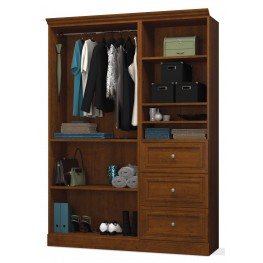 Versatile Tuscany Brown 61'' Extra Storage Wardrobe