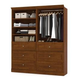 Versatile Tuscany Brown 72'' Storage Wardrobe